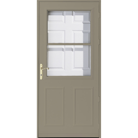 Shop pella olympia putty high view safety wood retractable for Pella retractable screen door