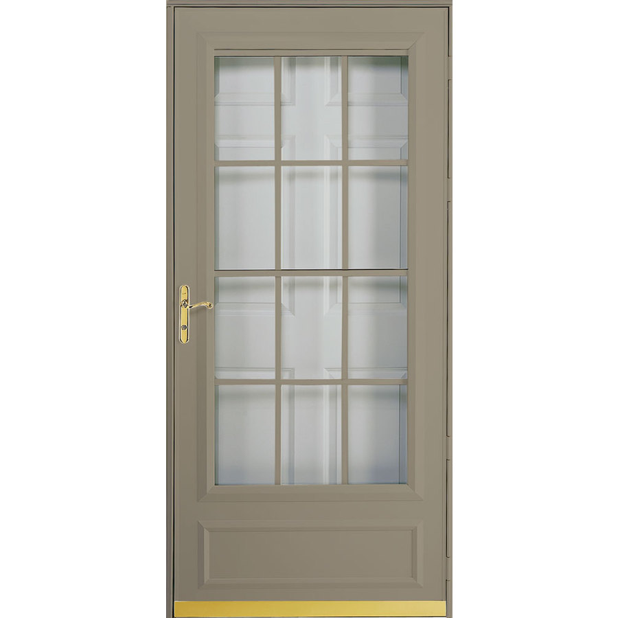 Shop pella cheyenne putty mid view safety retractable for Storm door prices