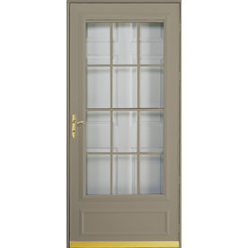 UPC 096829908696 Product Image For Pella Cheyenne Putty Mid View Safety  Retractable Screen Storm Door