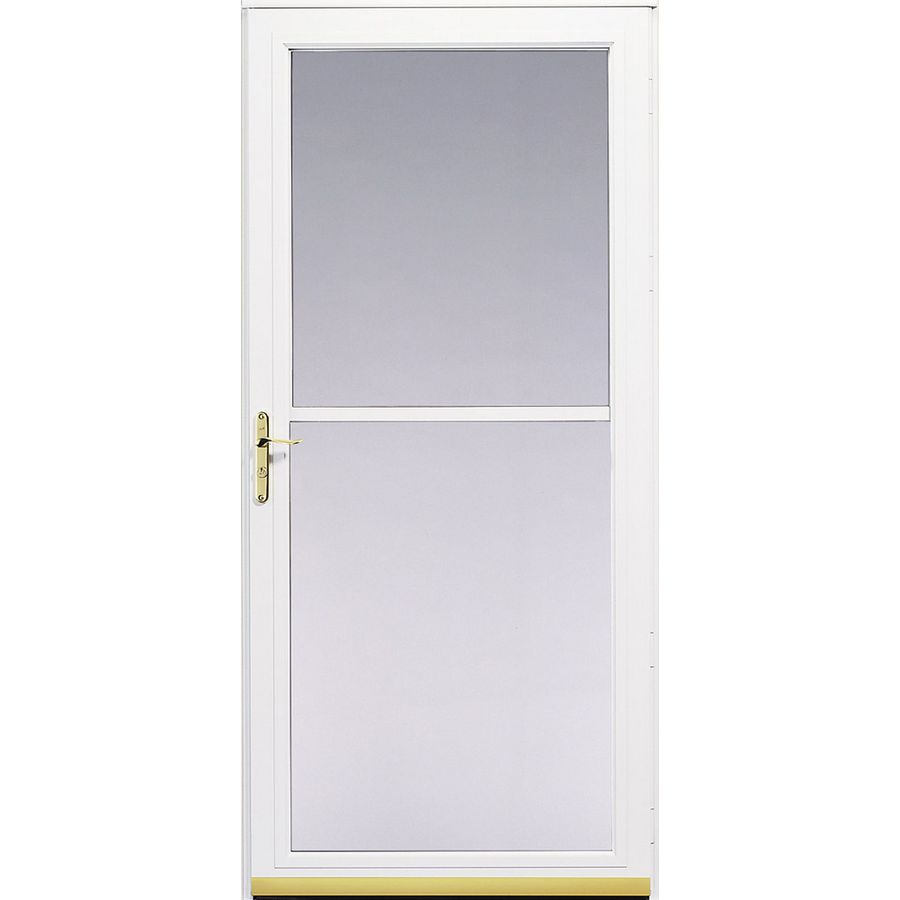 Pella 3800 Series White Full View Aluminum Storm Door Common 36 In