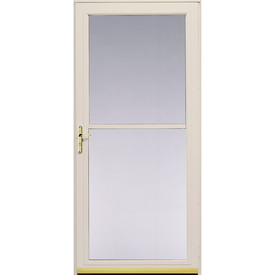 Shop pella poplar white 3800 series full view safety storm for White storm door