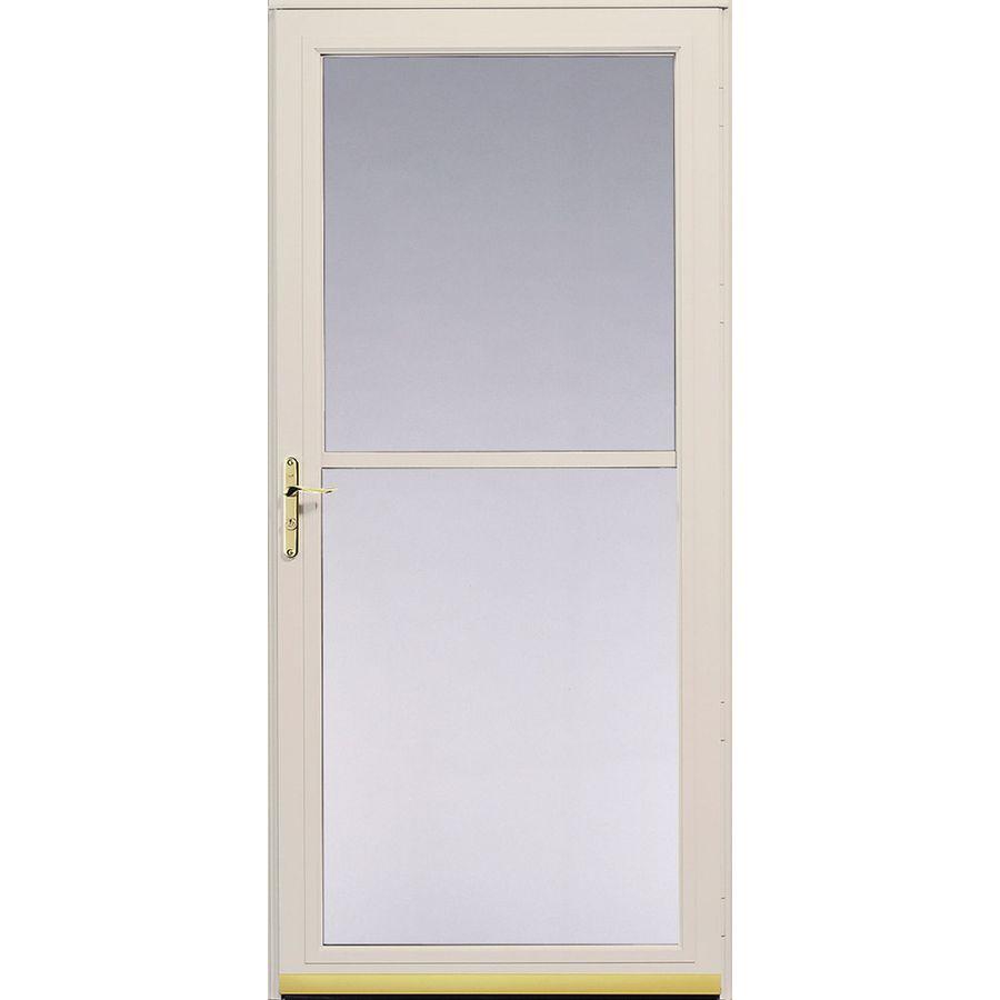 Pella Storm Doors : Shop pella poplar white series full view safety storm