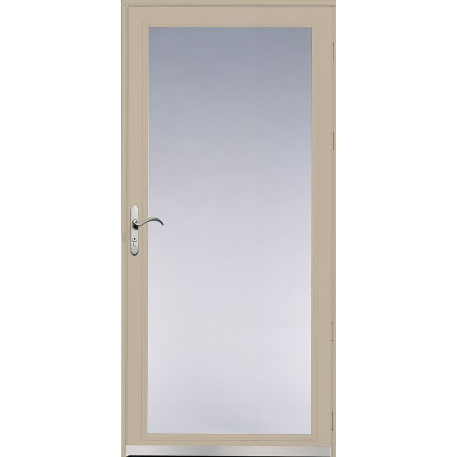 Shop Pella Ashford Tan Full View Safety Glass And