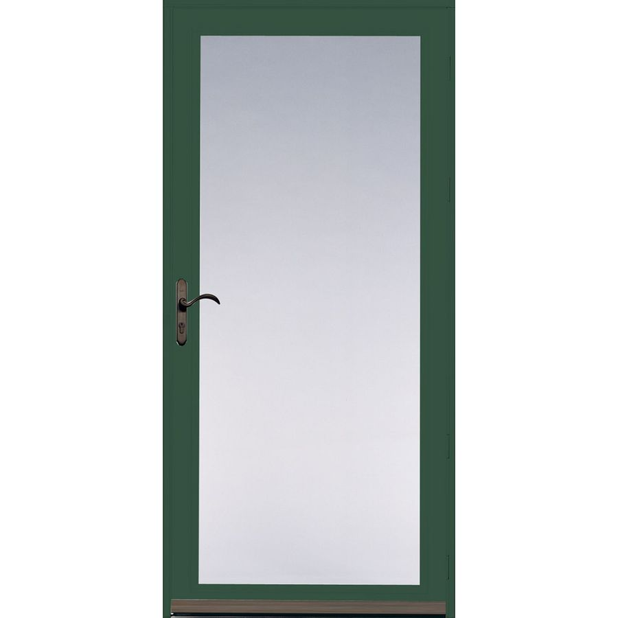 Shop pella ashford hartford green full view safety glass for Full glass screen door