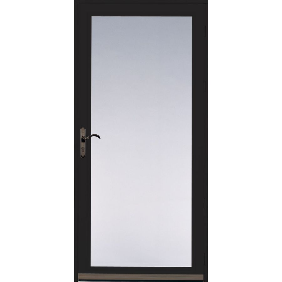 Shop pella ashford black full view safety glass and for Storm and screen doors