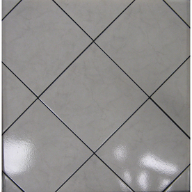 Surface Source 12-in x 12-in Classic Marble Grey Glazed Porcelain Floor Tile