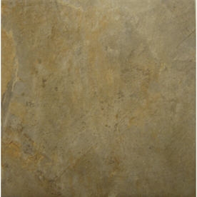 Style Selections Camelot Gold Glazed Porcelain Indoor/Outdoor Floor Tile (Common: 12-in x 12-in; Actual: 11.75-in x 11.75-in)