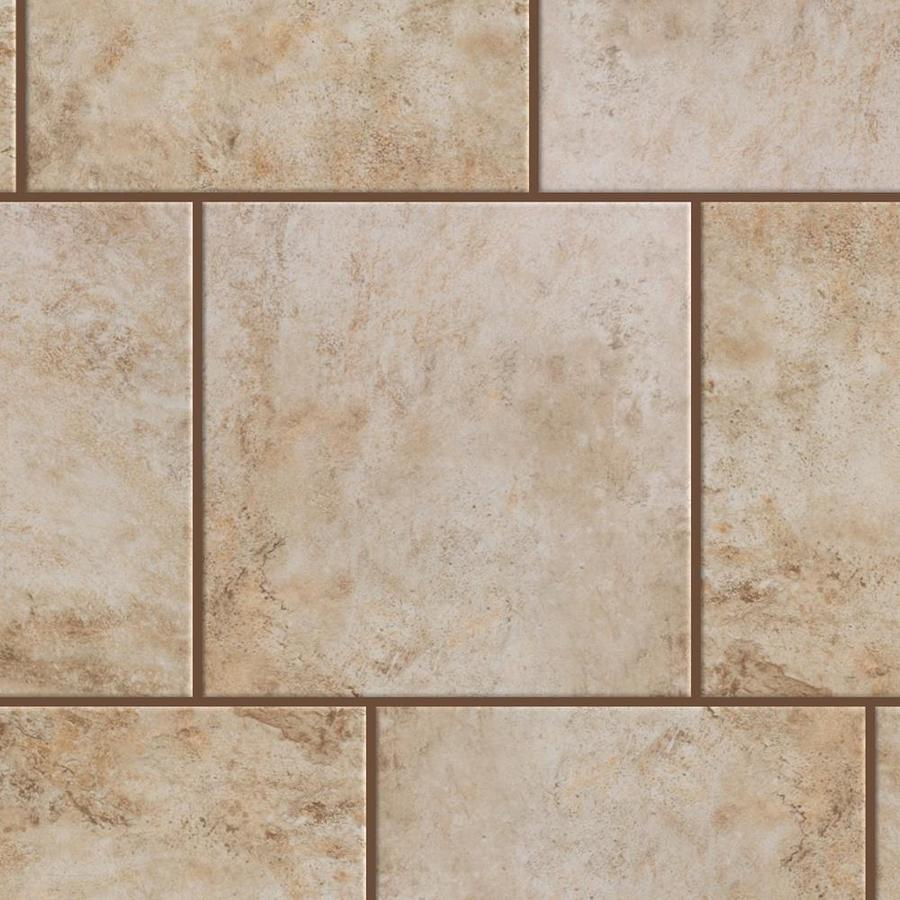 Style Selections Mesa Beige Glazed Porcelain Indoor Outdoor Floor Tile