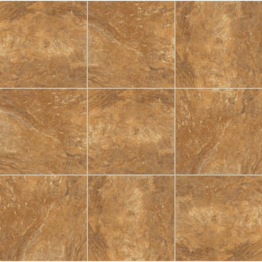 Shop style selections mesa rust glazed porcelain indoor outdoor floor tile common 12 in x 12 - Lowes floor tiles porcelain ...