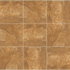 Style Selections Mesa Rust Glazed Porcelain Indoor/Outdoor Floor Tile ...