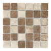 Style Selections Mesa Mixed Rust and Beige Glazed Porcelain Glazed Porcelain Mosaic Square Listello Tile (Common: 12-in x 12-in; Actual: 11.75-in x 11.75-in)