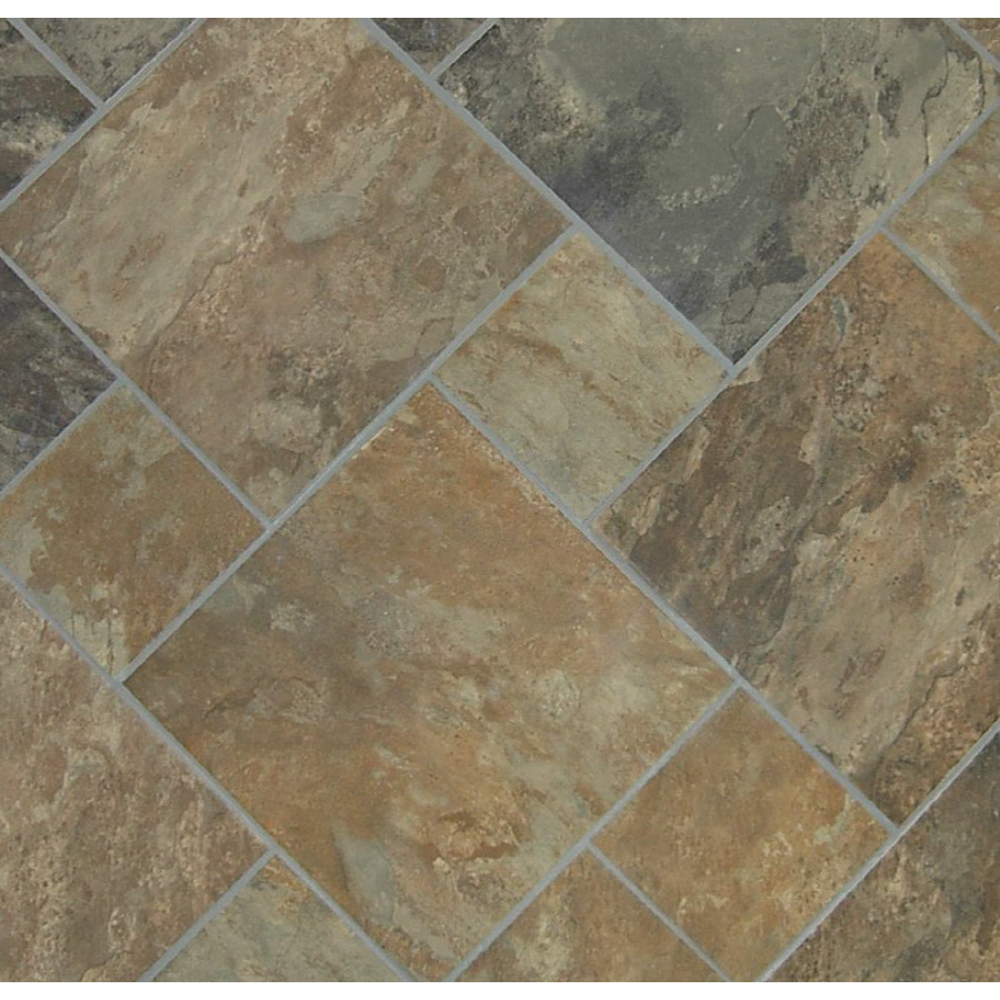 Sedona Slate Cedar Glazed Porcelain Indoor Outdoor Floor Tile