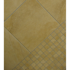 Classic 18-in x 18-in Mojave Gold Glazed Porcelain Floor Tile