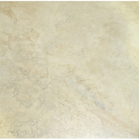 Style Selections 18-in x 18-in Mesa Almond Glazed Porcelain Floor Tile