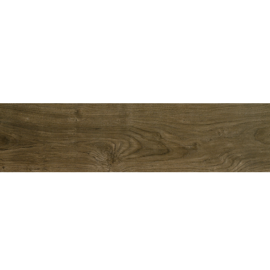 Metro Wood Walnut Glazed Porcelain Floor Tile Common 6 In X 24
