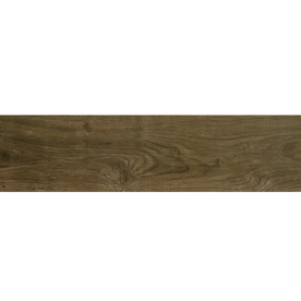 Style Selections Metro Wood Walnut Porcelain Floor and Wall Tile (Common: 6-in x 24-in; Actual: 5.75-in x 23.75-in)