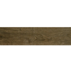 Style Selections Metro Wood Walnut Glazed Porcelain Floor Tile (Common: 6-in x 24-in; Actual: 5.75-in x 23.75-in)