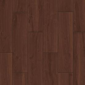 Style Selections Serso Black Walnut Glazed Porcelain Floor Tile (Common: 6-in x 24-in; Actual: 5.75-in x 23.75-in)