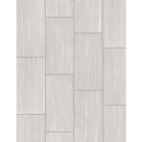 Style Selections Leonia Silver Porcelain Floor and Wall Tile (Common: 12-in x 24-in; Actual: 11.75-in x 23.75-in)