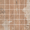 FLOORS 2000 Afrika Dakar Brown Glazed Porcelain Mosaic Square Indoor/Outdoor Floor Tile (Common: 12-in x 12-in; Actual: 11.75-in x 11.75-in)