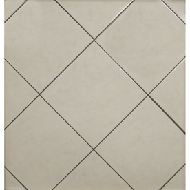 Surface Source 12-in x 12-in Classic Marble Beige Glazed Porcelain Floor Tile (Actuals 12-in x 12-in)