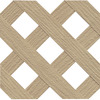 Freedom Wicker Vinyl Privacy Lattice (Common: 1/4-in x 48-in x 8-ft; Actual: 0.19-in x 47.53-in x 7.92-ft)