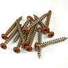 Barrette 1-1/2-in Redwood Tone Vinyl Lattice Screws
