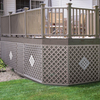 Freedom Wicker Vinyl Traditional Lattice (Common: 1/8-in x 48-in x 8-ft; Actual: 0.15-in x 47.53-in x 7.92-ft)