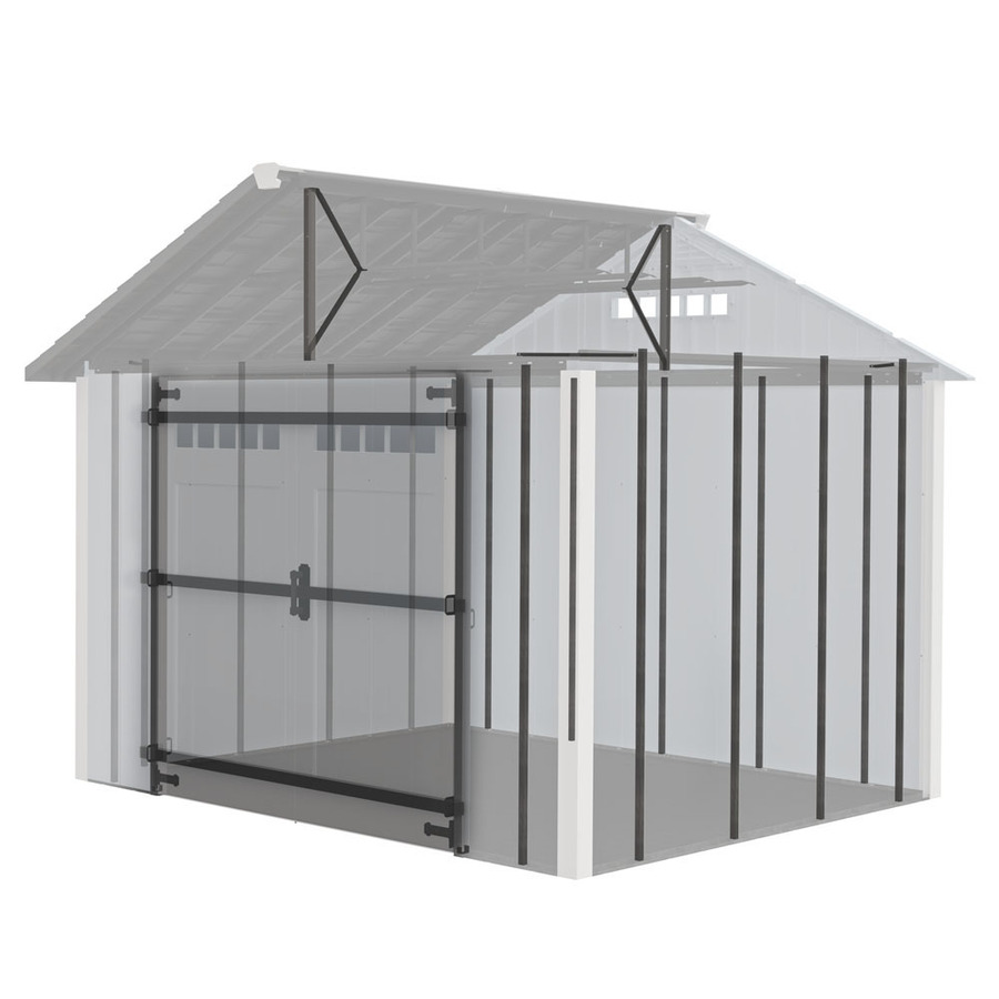 Bobbs roughneck x large storage shed lowes for Lowes storage sheds