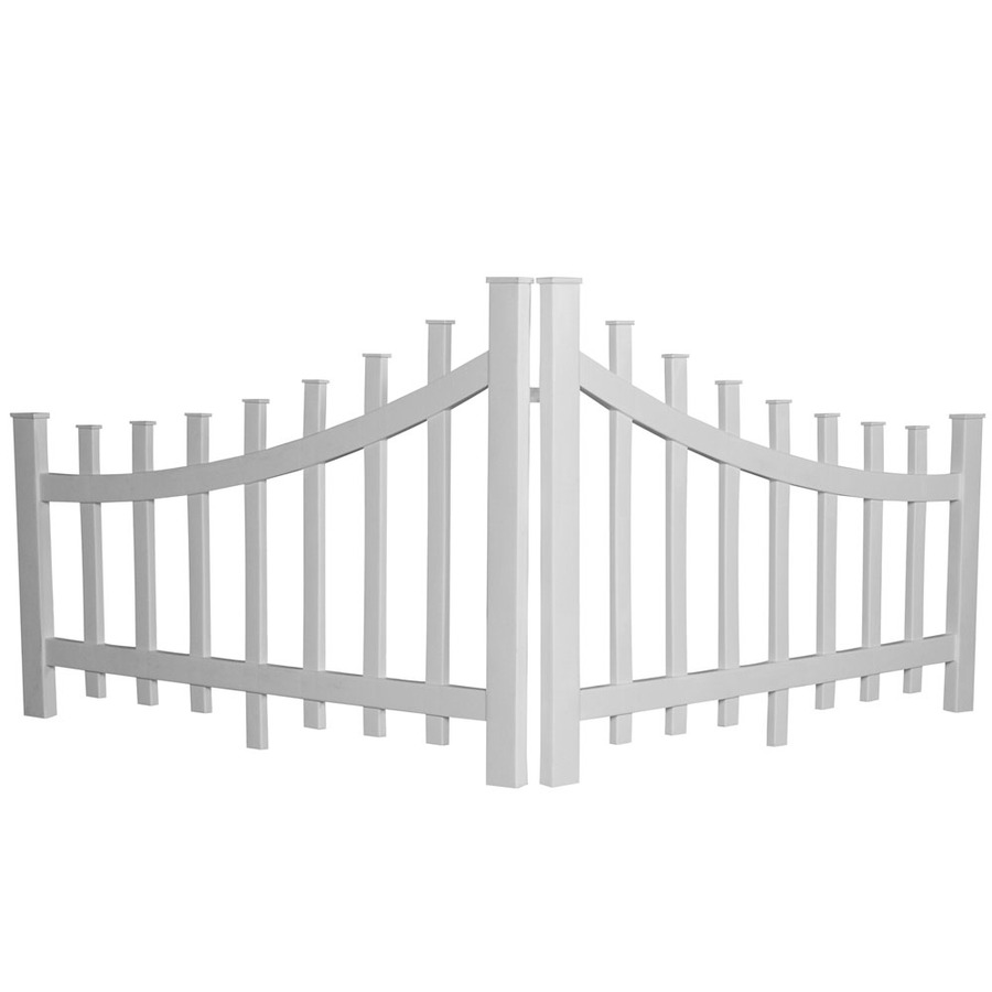 Shop Barrette White Vinyl Fence Panel Common 48 In X 32