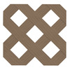 Freedom Saddle Vinyl Privacy Lattice (Common: 1/4-in x 48-in x 8-ft; Actual: 0.19-in x 47.53-in x 7.92-ft)