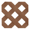Barrette Redwood Tone Privacy Vinyl Lattice (Common: 0.2-in x 4-ft x 8-ft; Actual: 0.19-in x 48-in x 96-in)