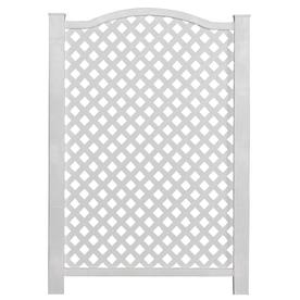 Barrette 46-in x 32-in White Vinyl Fence Panel