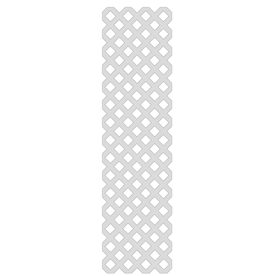 1/8-in x 2-ft x 8-ft White Traditional Vinyl Lattice