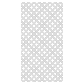 Shop White Vinyl Traditional Lattice Common 1 8 In X 48