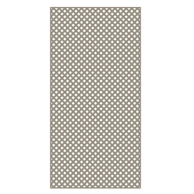 Barrette Clay Vinyl Privacy Lattice (Common: 1/4-in x 48-in x 8-ft; Actual: 0.19-in x 47.53-in x 7.92-ft)
