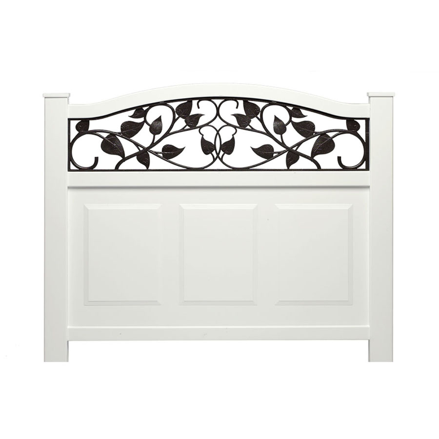 Shop Barrette White Vinyl Fence Panel Common 38 56 In X