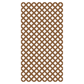 Barrette 1/4-in x 4-ft x 8-ft Redwood Tone Traditional Vinyl Lattice