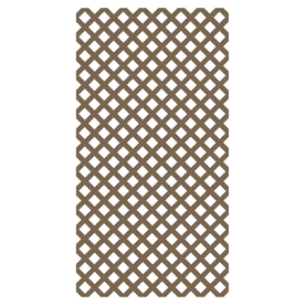Barrette 1/4-in x 4-ft x 8-ft Natural Traditional Vinyl Lattice
