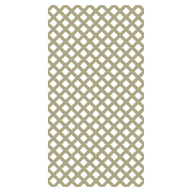 Freedom Better Than Treated Vinyl Traditional Lattice (Common: 3/20-in x 48-in x 8-ft; Actual: 0.15-in x 47.53-in x 7.92-ft)