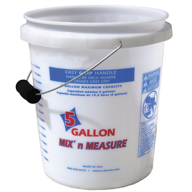 Encore Plastics 5-Gallon Polyethylene Mix and Measure Pail