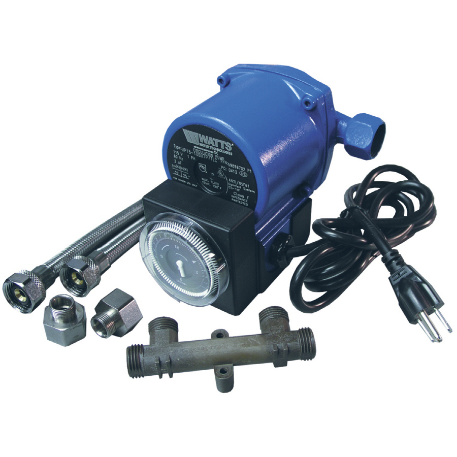 Shop watts hot water recirculating pump with timer at for Pros and cons of hot water recirculating pump