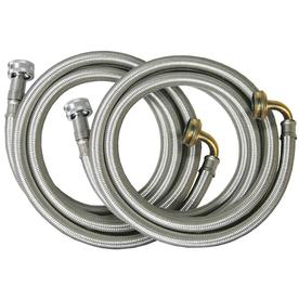 Watts 2-Pack 72-in 125 PSI Braided Stainless Steel Washing Machine Connector