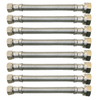 Watts 8-Pack 3/8-in Compression 20-in Stainless Steel Faucet Supply Lines