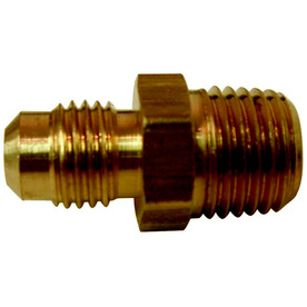 Watts 1/4-in x 1/4-in Threaded Flare x MIP Adapter Union Fitting
