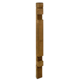 Top Choice Brown Pressure Treated Hemlock-Fir Deck Post (Common: 4-in x 4-in x 4.5-ft; Actual: 3.375-in x 3.375-in x 4.4-ft)