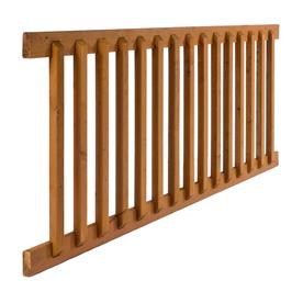 Shop top choice brown pressure treated hemlock fir deck railing kit assembled 6 ft x - Lowes deck railing systems ...