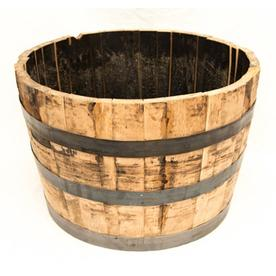 Real Wood Products 17-in H x 25-in W x 25-in D Oak/Wood Wood Planter