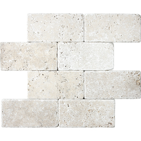 tumbled marble tile. UPC 098802104132 Product Image For 8-Pack Chiaro Tumbled Marble Natural Stone Wall Tile (