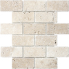 Anatolia Tile Chiaro Tumbled Marble Tumbled Natural Stone Mosaic Subway Wall Tile (Common: 12-in x 12-in; Actual: 10-in x 12-in)